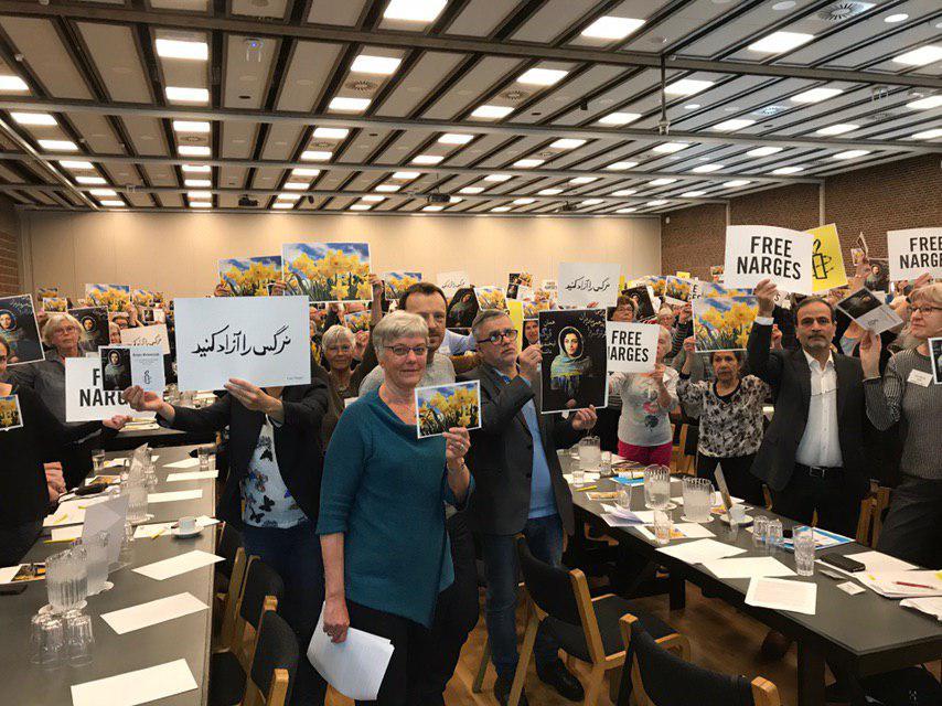 عفو بین الملل و درخواست و تلاش برای آزادی نرگس محمدی