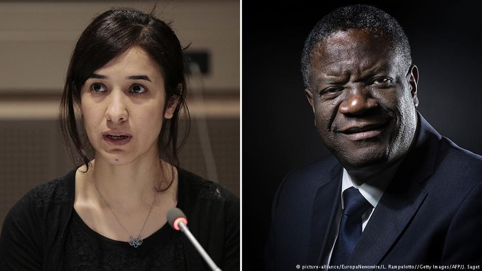 نادیا مراد و دنیس موک وگه برندگان نوبل صلح ۲۰۱۸